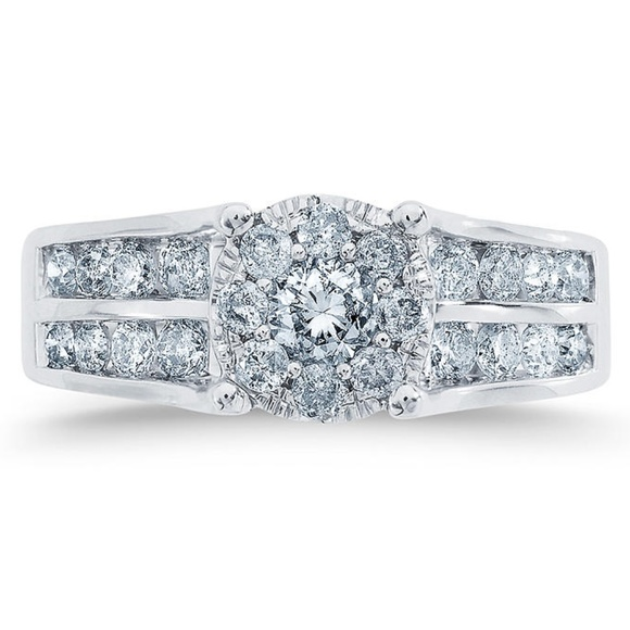 UNIQUE DESIGNS, INC. Jewelry - 1 1/10 Ct Diamond 10k White Gold Engagement Ring